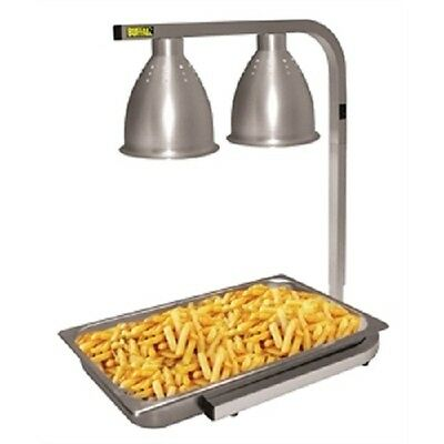 Buffalo Infrared Food Warmer 2 x 250W - GD867  Catering Lamps Buffet Commercial