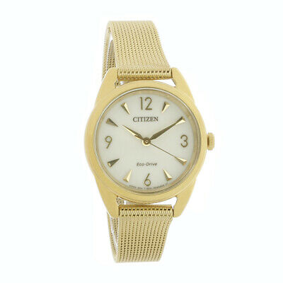 Citizen Eco Drive LTR Ladies Gold Plated Stainless Steel Watch EM0682-58P