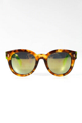 33b3b56dabf Fendi Womens FF 0026/S 7ORQU Tortoise Shell Print Green Color Block  Sunglasses