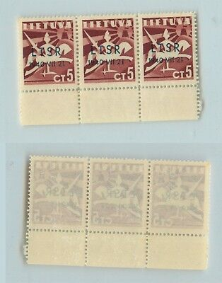 Lithuania 1940 SC 2N11 mint strip of 3 . rtb892
