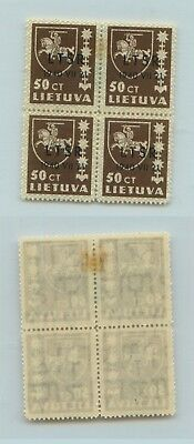 Lithuania 1940 SC 2N10 mint block of 4 . rtb891