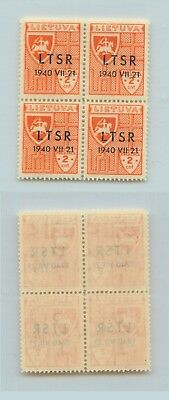 Lithuania 1940 SC 2N9 MNH block of 4 . rtb890