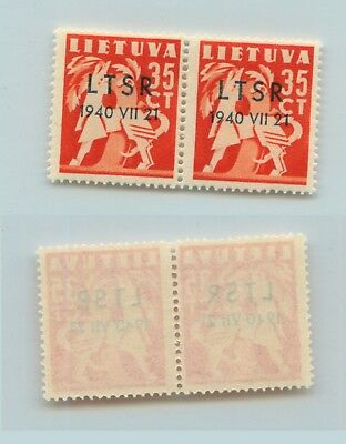 Lithuania 1940 SC 2N16 mint pair . rtb894