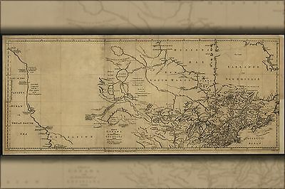 Poster, Many Sizes; Map Of Canada Michigan & New England 1762 P2