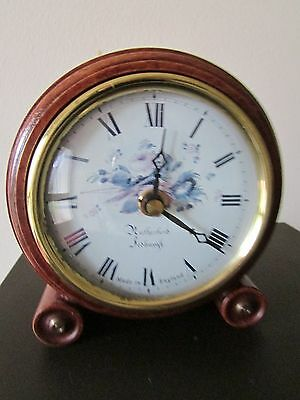 """Rutherford Jedburgh Mantel Clock. Made in England, 6"""" HEIGHT, GERMAN MOVEMENT."""