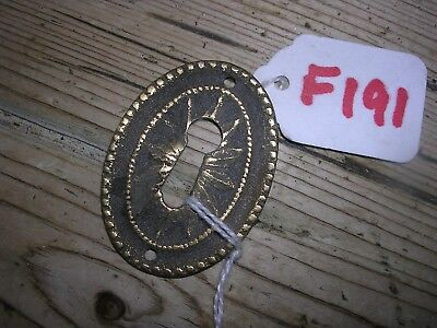 Antique Brass Escutcheon (F191)