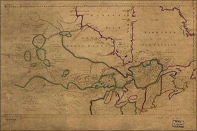 Poster, Many Sizes; Map Of Canada Michigan & New England 1762