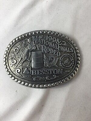 1998 HESSTON NFR National Finals Rodeo Lady's Barrel Racing Adult Belt Buckle