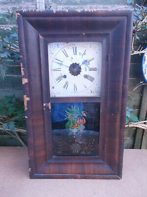 Antique 19c Junghans American Style Ogee Wall Mantel Clock For Restoration