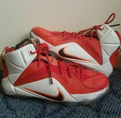 innovative design 0c0e6 08618 Nike Lebron 12 XII Red White Black Heart of a Lion Basketball Shoes - Size  6.5