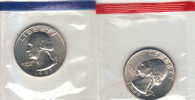 1971 P+D WASHINGTON QUARTER UNCIRCULATED STILL IN MINT CELLO L@@K