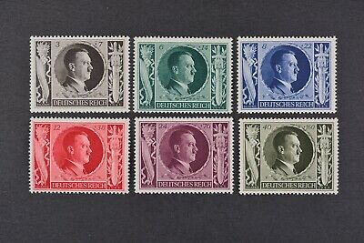 1943 MNH** German Stamps-Third Reich. 54th Birthday of Adolph Hitler