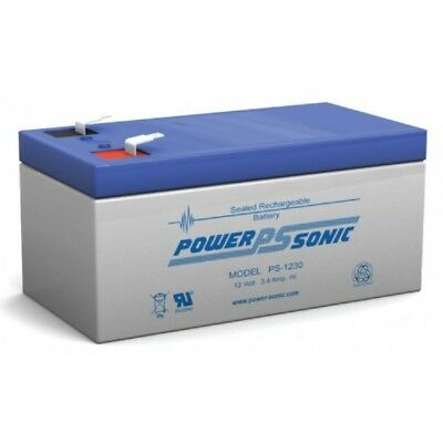 Power-Sonic Batterie Ps-1230 12v 3.4 Ah SLA F1 Connecteur/F1 > F2 Amovible