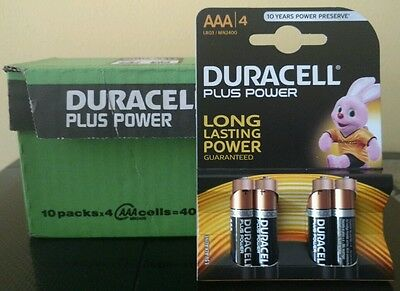 40 Pilas AAA DURACELL PLUS POWER