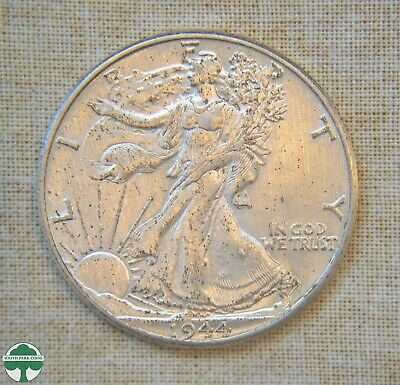 1944-P Walking Liberty Half Dollar - About Uncirculated Details - Cleaned