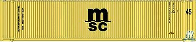 MSC 45' CIMC Container HO - Walthers SceneMaster #949-8565 vmf121
