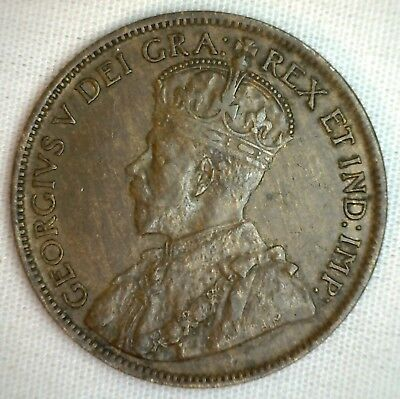 1915 Copper Canadian Large Cent Extra Fine Coin 1-Cent Canada XF M4 1c