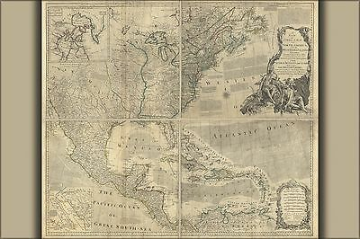 Poster, Many Sizes; Map Of North America With The West Indies 1777