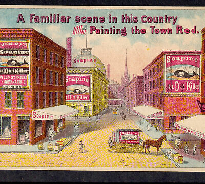 History /& Price Guide for Soapine Advertising Trade Cards SOAPINE Did It Book