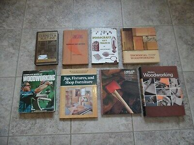 Lot of 8 Woodworking & Cabinet Books