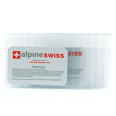 Alpine Swiss Checkbook Plastic Insert Made in USA 6 Page SET OF 2 Card Holder