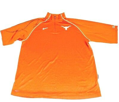 da27184b NIKE GOLF DRI-FIT Mens Small S/S Solid Orange Texas Longhorns Polo ...