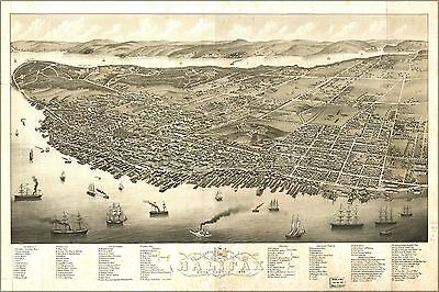 Poster, Many Sizes; Panoramic Map Of Halifax, Nova Scotia 1879