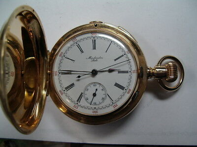 Antique Montandon Minute Repeater w/chrono Pocket Watch  pw-50
