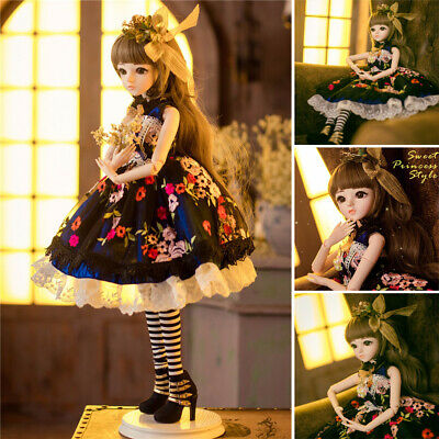 60cm 1/3 Resin SD BJD Doll Sweet Princess Wedding Dress With Full Set Outfit Toy