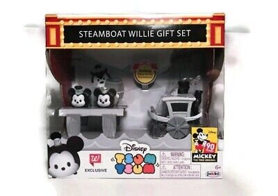 Disney Tsum Tsum Steamboat Willie Gift Set Walgreens Exclusive Mickey Mouse 90Th