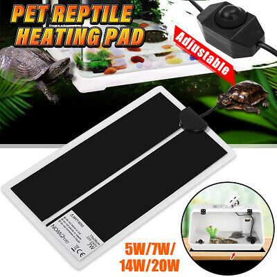 Pet Electric Adjustable Heat Pad Reptile Lizard Heating Mat Warmer Blanket Home
