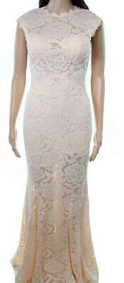 823a2c23c6f0 Betsy & Adam NEW Blush Pink Women's Size 0 Gown Floral Lace Dress $287 #975