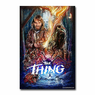 F-11 The Thing Classic Horror Movie 12x18 24x36in Art fabric Poster print custom