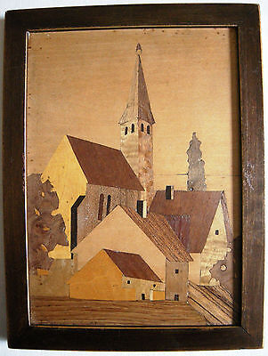 TABLEAU MARQUETERIE ALSACE Georges C