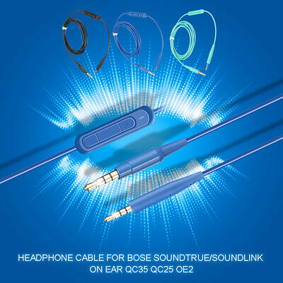 Headphone Audio Cable Cord for Bose Soundtrue / Soundlink On Ear OE2 QC35 QC25