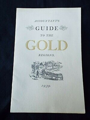 Antique 1939 Accountants GUIDE to the GOLD Mining Regions of California Map RARE