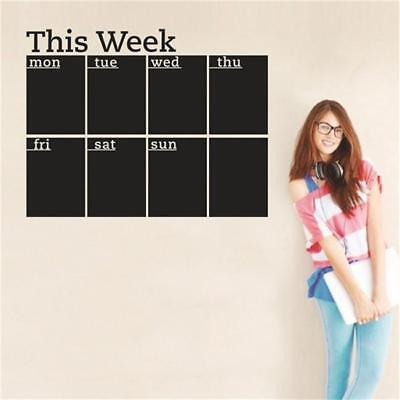 This Week Blackboard Chalkboard Wall Decal Office Calendar Planner Sticker YO