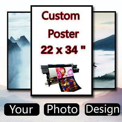 Custom poster 22 x 34 inch Thin Silk Fabric (Not with Frame)