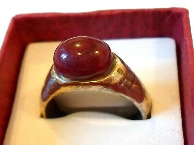 BIRTHDAY,WEDDING,ANNIVERSRY GIFT DETECTOR FIND,200-400 A.D ROMAN RING W/4ct RUBY
