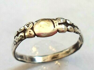 Birthday,Wedding,Gifts,A Detector Find & Polished,200-400 A.d Roman Silver Ring.
