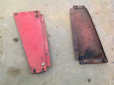 PAIR of Used Farmall Cub Front Hood Extensions Left and Right
