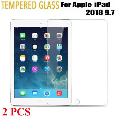 """2X Tempered Glass Film Screen Protector For 9.7"""" Apple iPad 6th Generation 2018"""
