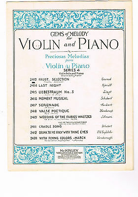 FAUST VIOLIN SOLO PIANO (CHARLES GOUNOD) GEMS OF MELODY 2413 1930 Music  Sheet