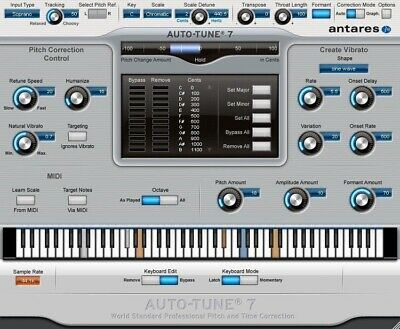 Antares Auto-Tune 7 TDM Pitch Correction Editing PC/MAC NEW  Autotune eDelivery