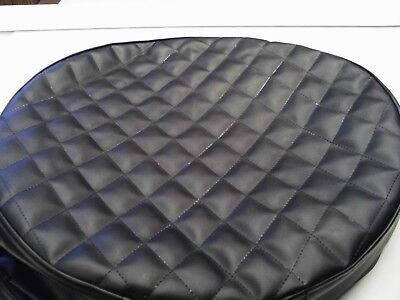 Peterbilt fuel tank covers set of 2 Quilted Black with black diamonds size 23""