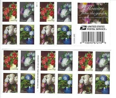 2017 Scott 5237-40 FLOWERS FROM THE GARDEN  Book of 20 Forever Stamps MNH