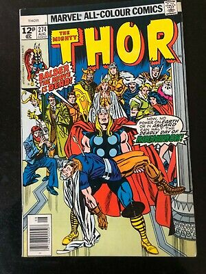 The Mighty Thor Vol.1 274 (1978) Marvel Bronze Avengers Buscema Vfn