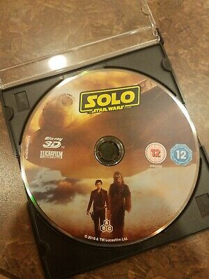 SOLO: A STAR WARS STORY Blu-ray 3D disc only Excellent condition!!!
