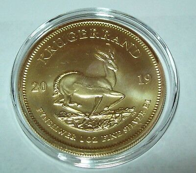 2019 South Africa Krugerrand 24K Gold Gilded 1 Troy Oz. .999 Fine Silver Coin