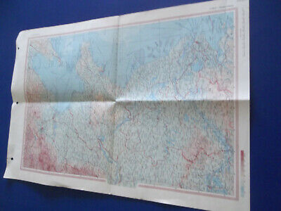 3 Paper Maps, in Polish, of Various Parts of The World